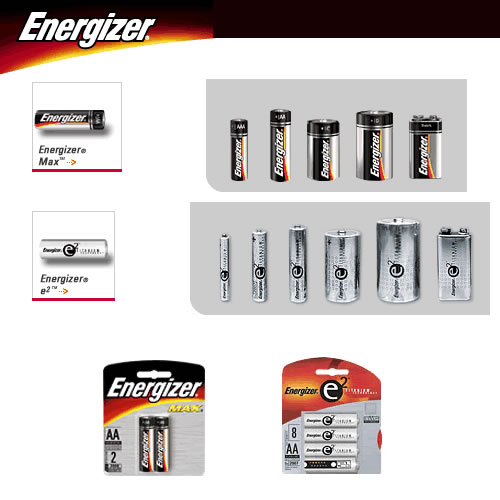 Eveready. * EN91 AA battery * EN92 AA battery * EN95 D cell battery